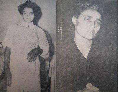 Η Σπυριδούλα και (δεξιά) η μητέρα της