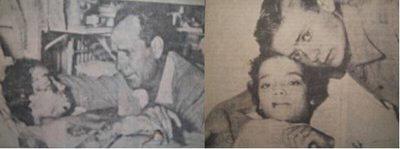 Η Σπυριδούλα στο Τζάνειο Νοσοκομείο, με τον πατέρα της (αριστερά) και ένα από τα αδέλφια της (δεξιά)