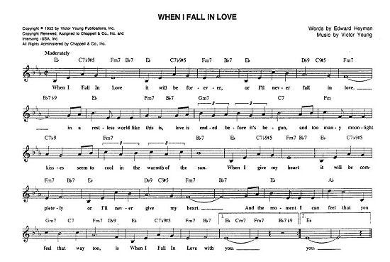 Ένα τραγούδι θρύλος: When I Fall In Love